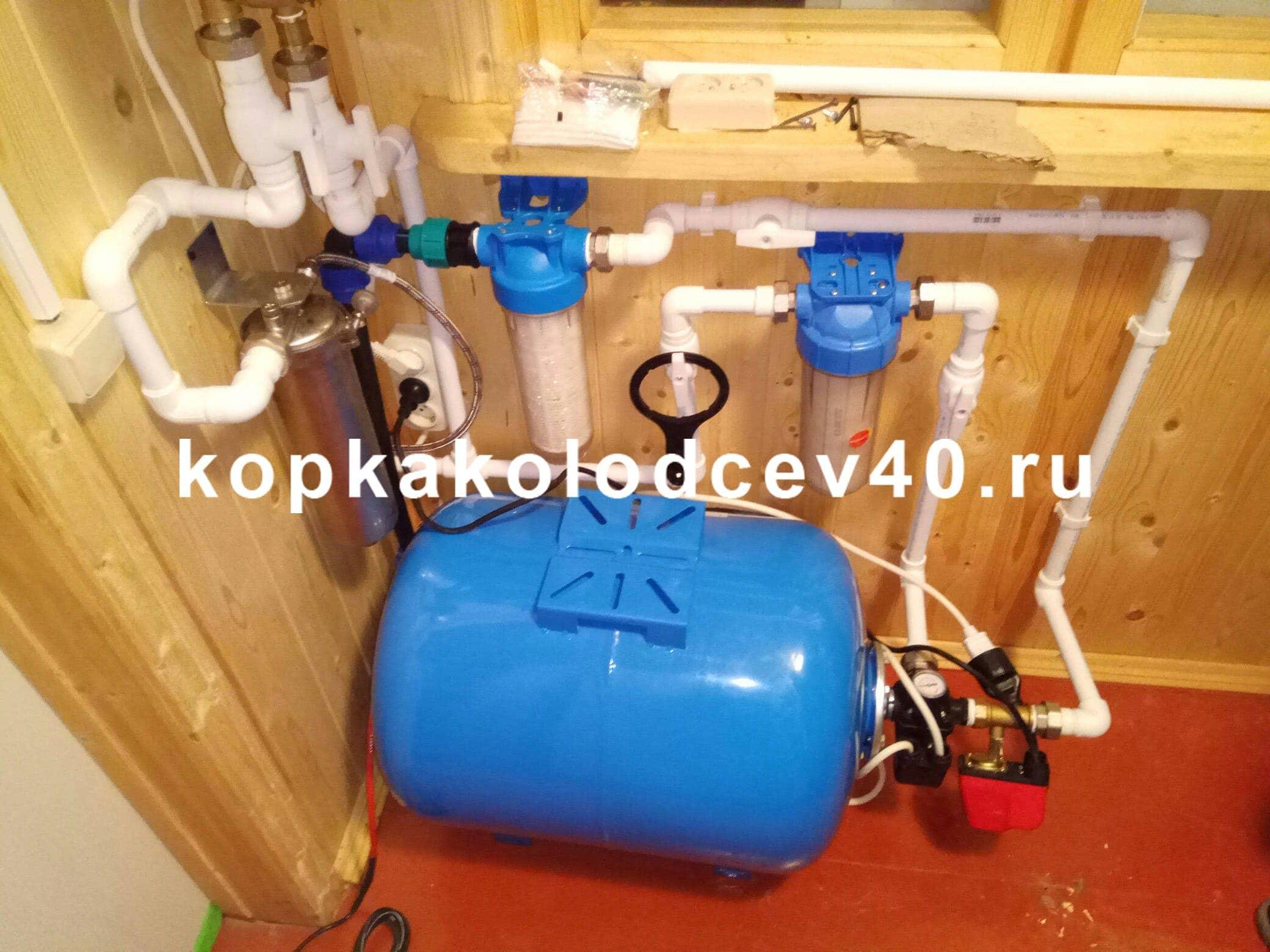 Водопровод в деревянном доме на своими руками