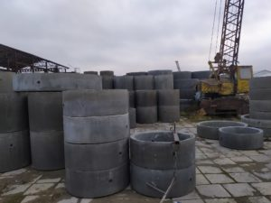 широкий выбор бетонных колец и других ЖБИ